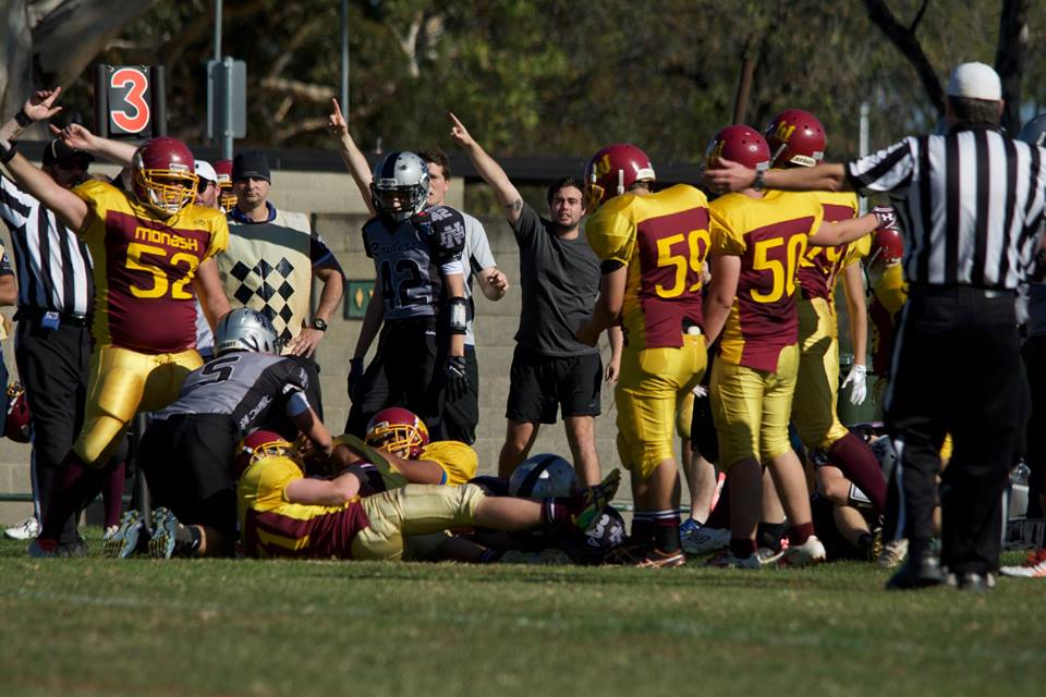 Warriors Defense forces a turnover (Photo courtesy of Bruce Rachon)