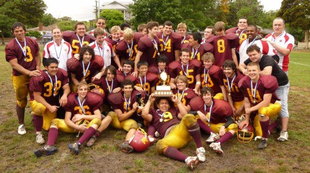 Adam Gotsis wins a Junior Vic Bowl with the Monash Warriors in 2009