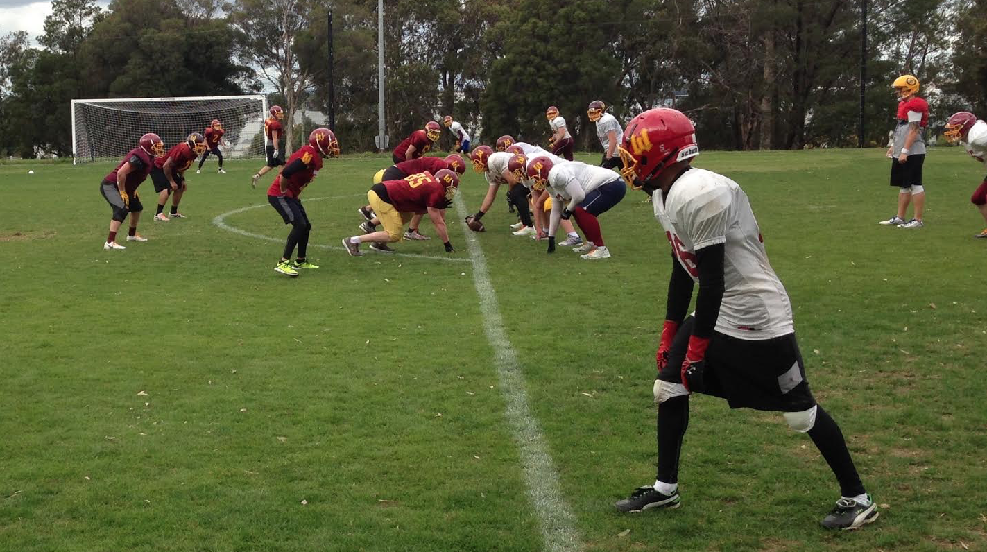 Warriors Men's training in pads ahead of 2016 season